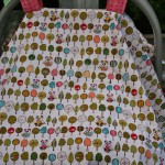 This is NOT the carseat tent I'm giving away, just what it will look like on your carseat.
